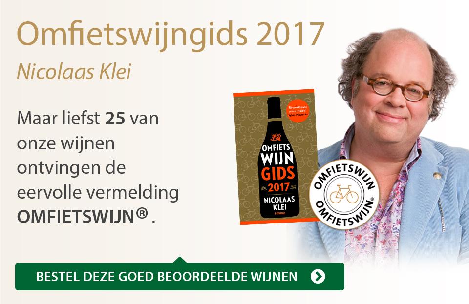 Omfietswijngids 2017 - grijs/goud