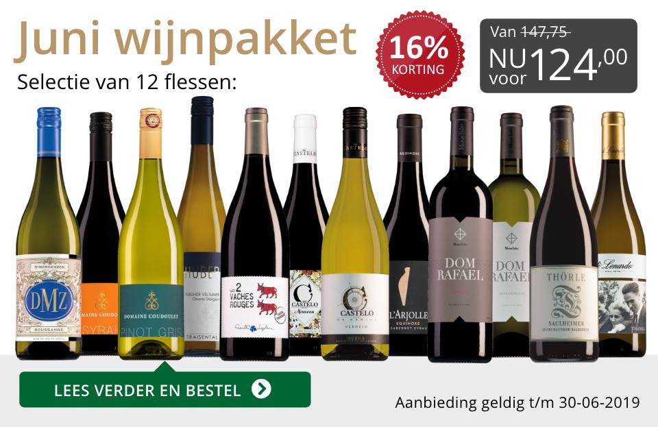 Wijnpakket wijnbericht juni 2019 (124,00) - grijs/goud