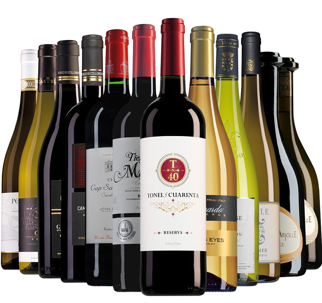 Wijnpakket Wijnbericht december (12 flessen)