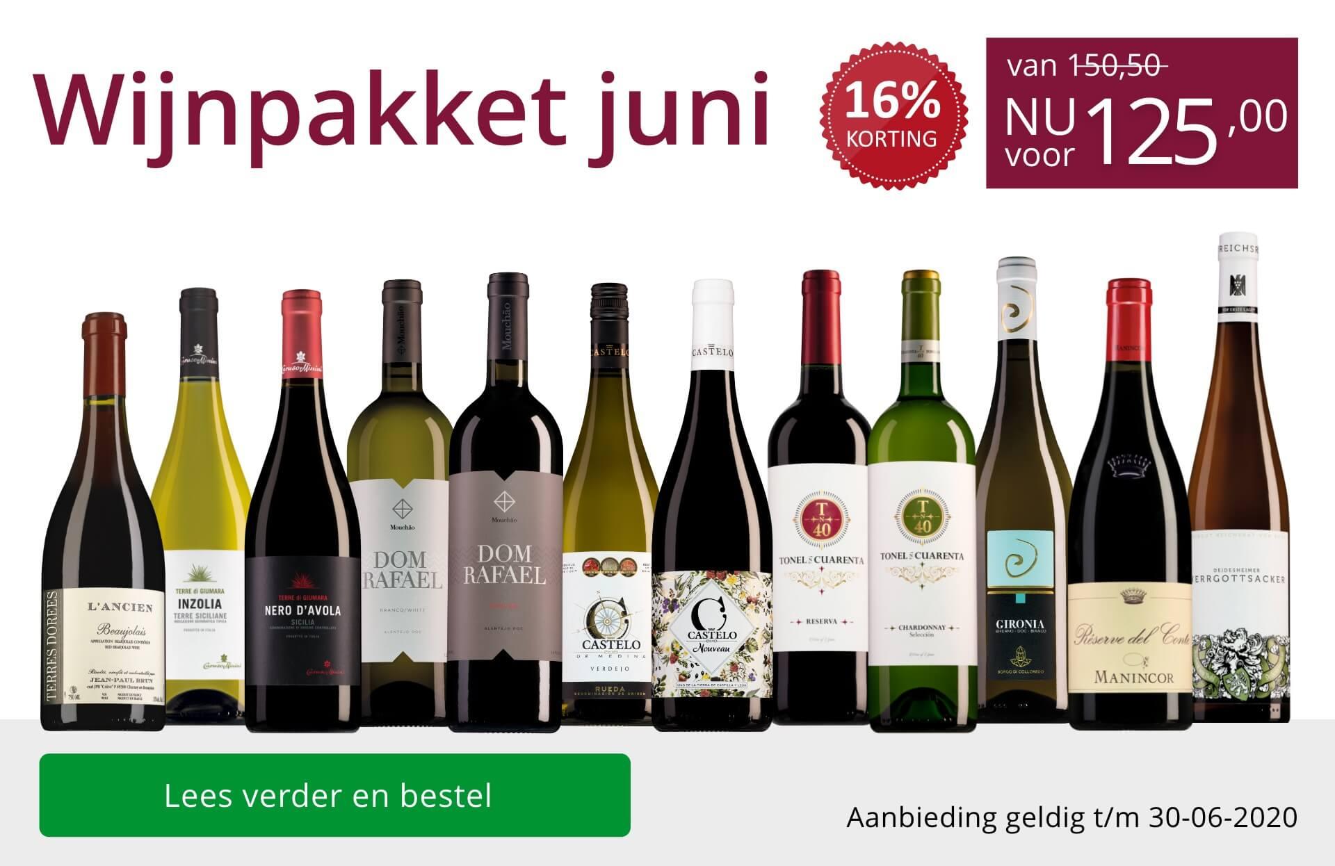 Wijnpakket wijnbericht juni 2020 (125,00) - paars