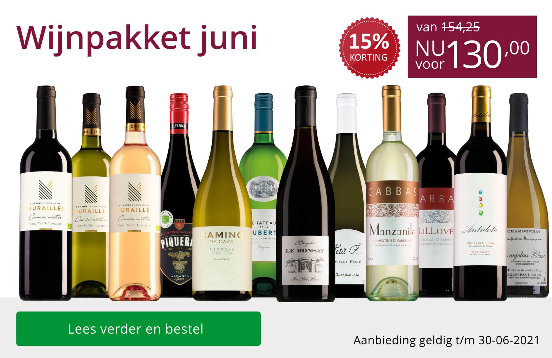 Wijnpakket wijnbericht juni 2021(130,00) - paars