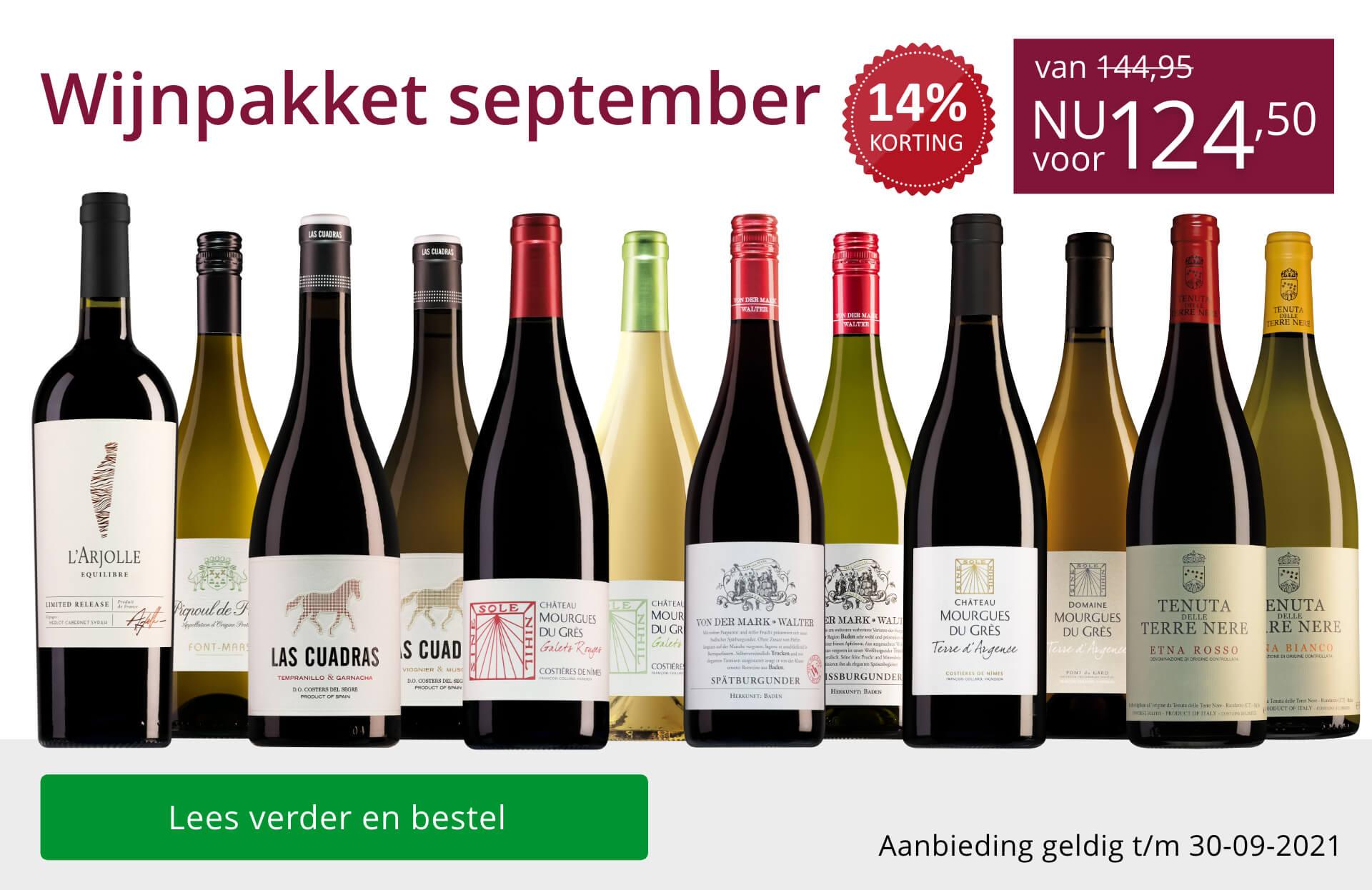 Wijnpakket wijnbericht september 2021 - paars