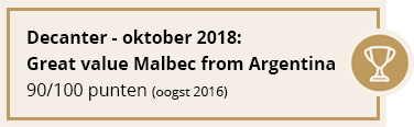 Decanter - oktober 2018: Great value Malbec from Argentina | 90/100 punten